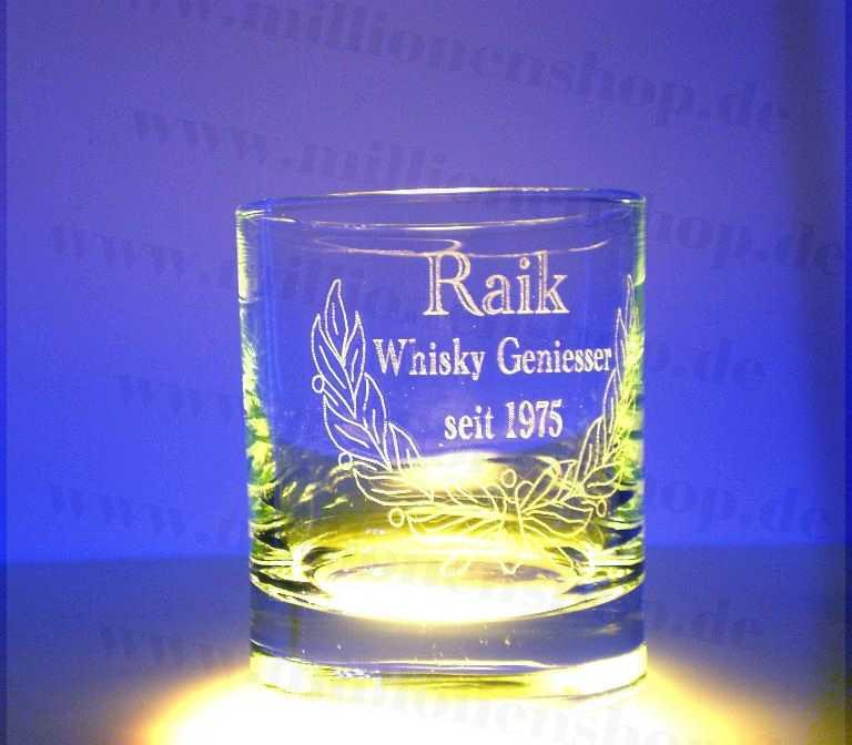 Gravur Whiskyglas - auf Wunsch mit Fotogravur - Lasergravuren im ...