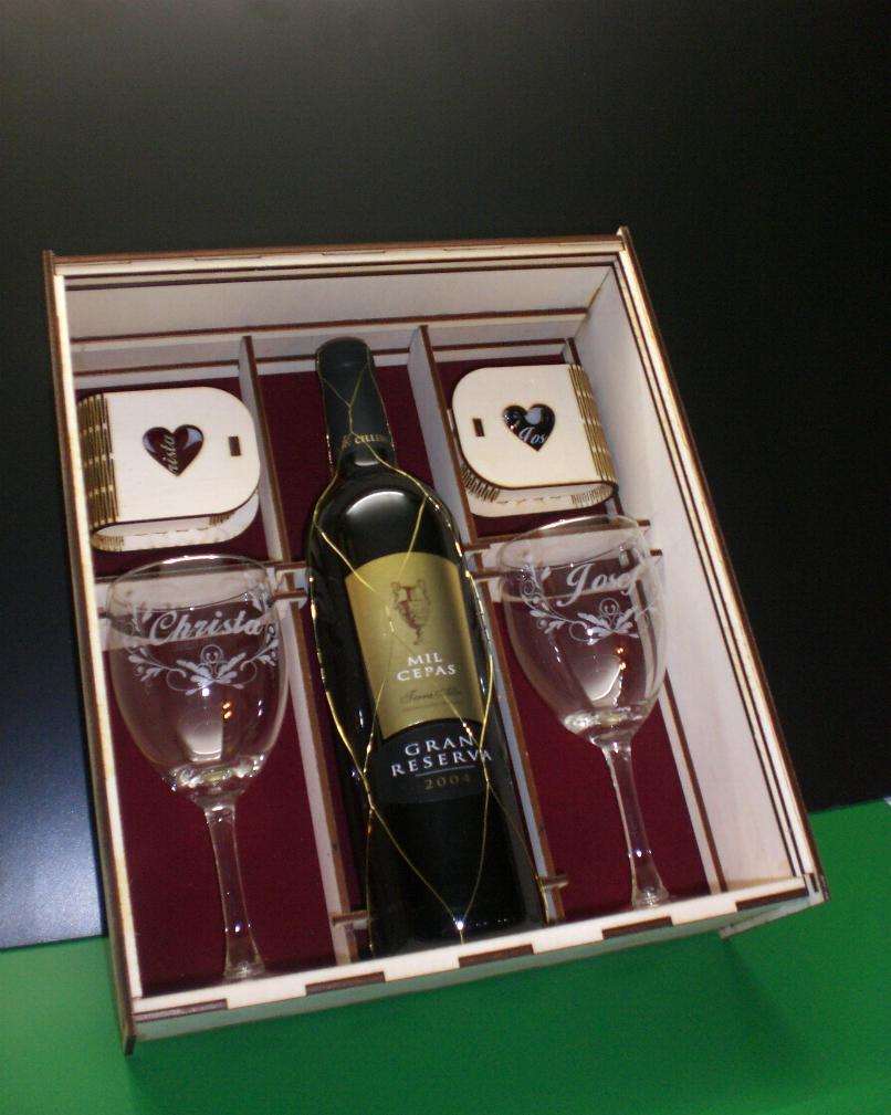 Geschenk mit Lasergravur zur Goldenen Hochzeit