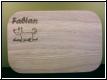Fr�hst�cksbrettchen mit Gravur - Holzbrett eckig