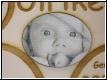 Teddy mit Babybild groß- Gravur-Geburtenschild
