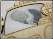 Feuerwehr mit Babybild - Foto-Gravur-Geburtstafel-Holzgravur