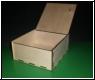 Holz-Kästchen mit Klappdeckel u. Wunsch-Gravur