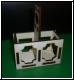 Geschenkverpackung Holz- 2er Flaschenträger klein