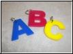 Acryl-Anhänger Buchstabe mit Gravur