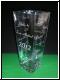 Vasen aus Glas eckig mit Gravur