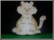 Geburtstafel Tiger mit Babybild Gravur-Geburtenschild