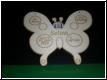 Geburtstafel Schmetterling mit Babybild Gravur-Geburtenschild