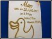 Geburtentafel Ente mit Babybild Gravur - Geburtenschild