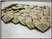 Geschenkanhänger Herz aus Holz mit Gravur - 10er Pack
