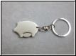 Schlüsselanhänger-Edelstahl Glücksschwein mit Chip u. Gravur
