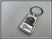 Schlüsselanhänger-Edelstahl eckig mit Gravur