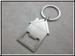 Schlüsselanhänger mit Metall-Flaschenöffner u. Gravur