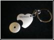 Metall-Schlüsselanhänger Herz mit Chip und Gravur