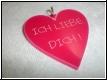 Acryl - Herz Anhänger mit  Gravur
