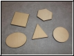 Holz 3eck-4eck-6eck-Oval-Kreis Gravur - 10erPack