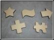 Holz Pfeil-Stern-Kreuz-Puzzleteil-Welle Gravur - 10erPack
