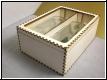 Holzbox - Kiste - mit Acrylglasdeckel und Gravur