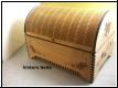 Holzbox, Schatztruhe, Truhe mit halbrunden Deckel - Holzgravur