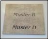 Fliesengravur Text  Kundenmaterial - Muster A
