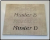 Fliesen - Gravur Text Kundenmaterial - Muster D