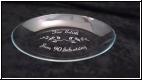 Glas Schale oval 25cm mit Gravur - auch Fotogravur