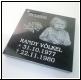 Grabplatte - Gravur  - Granit 35 x 35cm