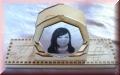 Briefständer aus Holz mit Foto
