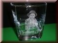 Whisky Glas eckig mit Gravur