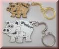 Partneranhänger Schweinchen - Schlüsselanhänger