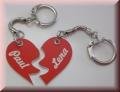 Partneranhänger Herz geteilt - Schlüsselanhänger