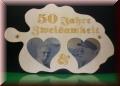 Herzen - Laubblatt - Fotogravur - Ihr Wunschmotiv