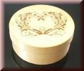 Holzschachtel rund mit Gravur