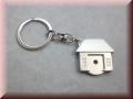 Schlüsselanhänger-Edelstahl Haus mit Chip u. Gravur