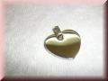 Edelstahlanhänger - Herz  flach mit Gravur