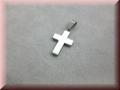 Edelstahlanhänger - Kreuz mit gravur