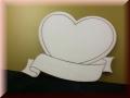 Herz mitBanner und  Namen-Gravur- 5er Set
