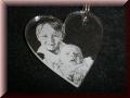Acryl - Herz Anhänger mit Fotogravur