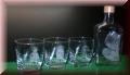 Whiskygläser Set eckig mit Flasche und Fotogravur