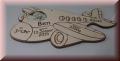Flugzeug mit Babybild - Foto-Gravur