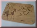 Stalltafel aus Holz - Lasergravur