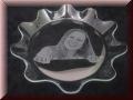 Glasschale rund mit Gravur - auch mit Fotogravur