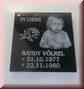 Grabplatte - Gravur  - Granit 30 x 30cm